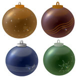 Christmass-sfere Fotografie Stock