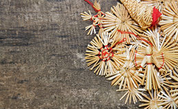 Christmass straw decorations Stock Images