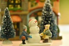 Christmass theme snowmann Bethlehem stock image