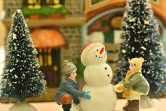 Christmass theme snowmann Bethlehem Stock Photography