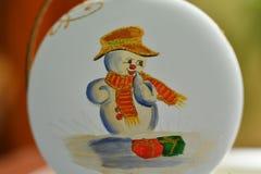 Christmass theme snowmann Bethlehem Stock Images