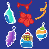 Christmass toys. Vector  toys for Christmass tree decoration Stock Photos