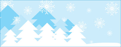Christmass tree. Christmas trees with snowing background Royalty Free Stock Photography