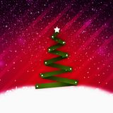 Christmass tree. Simple abstract christmass tree on a vivid background; christmass and new year holidays season conceptual image Royalty Free Stock Photo