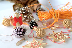 Christmass tree decorations Royalty Free Stock Image