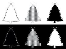 Christmass tree made of silverware. Decorative christmass tree made of silverware Stock Image