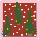 Christmass trees icon Royalty Free Stock Photos
