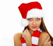Christmass  Woman. Beautiful hot sexy  woman in Santa. Christmas Woman Series Stock Photography