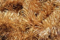 Christmass złoty świecidełka tło Fotografia Royalty Free