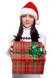 christmassflicka Royaltyfria Bilder