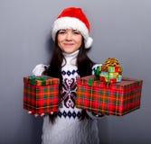 christmassflicka Royaltyfri Bild