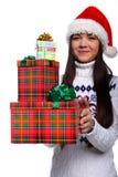 christmassflicka Fotografering för Bildbyråer