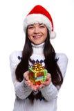 christmassflicka Arkivfoto