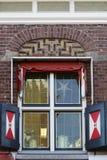 Christmassy adornó la ventana Fotografía de archivo libre de regalías