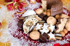 Christmassy biscuits Stock Photo