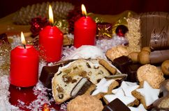 Christmassy biscuits Royalty Free Stock Photos