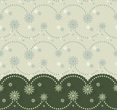 Christmassy border with festoon and snowflakes. Can be used for cards, banners, invitations Stock Photography