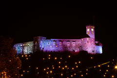 Christmassy castle on the hill. Stock Photography