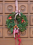 Christmassy door wreath Stock Images