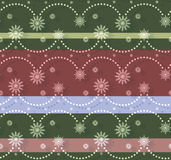 Christmassy seamless pattern. With snowflakes Stock Photography