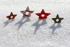 Christmassy stars Royalty Free Stock Photos