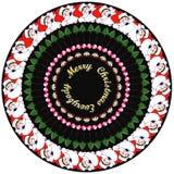 Christmassyontwerp voor stickers en giften royalty-vrije illustratie