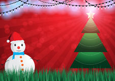 Christmast background with snowman vector illustration. Christmas background with snowman vector illustration rgb mode Stock Image