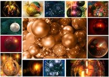 Christmast ball collage Stock Photo