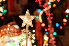 Christmast Lights and Star Stock Photos