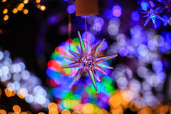 Christmast Lights and Star Royalty Free Stock Image