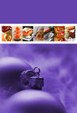 Christmast menu Royalty Free Stock Image