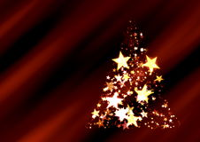 Christmast  Tree with stars Stock Image