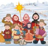Christmastide i Ryssland stock illustrationer
