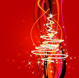 Christmastime. Abstract christmas background with tree stock illustration