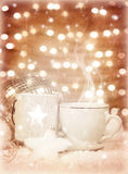 Christmastime coffee Stock Image
