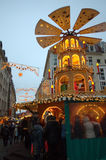 Christmastime crowded street Dresden Royalty Free Stock Images