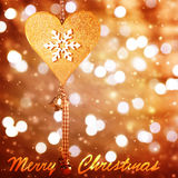 Christmastime greeting card Stock Photos