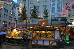Christmas market stands Dresden Royalty Free Stock Photo