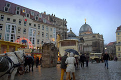 Christmastime street Dresden Royalty Free Stock Images