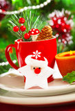 Christmastime table decoration Royalty Free Stock Image