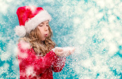 Christmastime wintertime girl royalty free stock photos