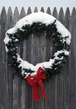 Christmastime wreath Royalty Free Stock Photo