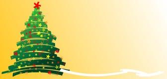 christmastree手拉的星形 库存例证