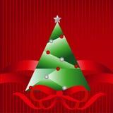 Christmastree bakgrund Arkivfoton