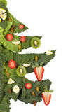 Christmastree. Christmas tree decoration from vegetable and fruits Stock Image
