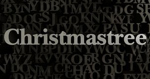 Christmastree - 3D rendered metallic typeset headline illustration. Can be used for an online banner ad or a print postcard Royalty Free Stock Photos