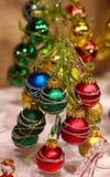 Christmastree exponeringsglas Royaltyfri Fotografi