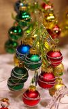 Christmastree glass. December decoration winter colorful season glitter beautiful silver gold holiday celebration Royalty Free Stock Photography