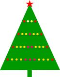 Christmastree. Graphic styled Christmas tree, with balls Royalty Free Stock Photos