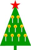 Christmastree. Graphic styled Christmas tree, with candles Royalty Free Stock Photography